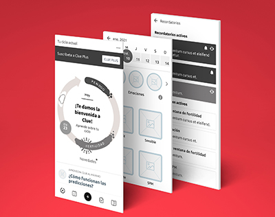 Wireframes app Clue